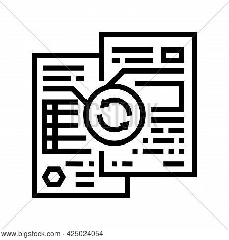 Comparative Analysis Line Icon Vector. Comparative Analysis Sign. Isolated Contour Symbol Black Illu