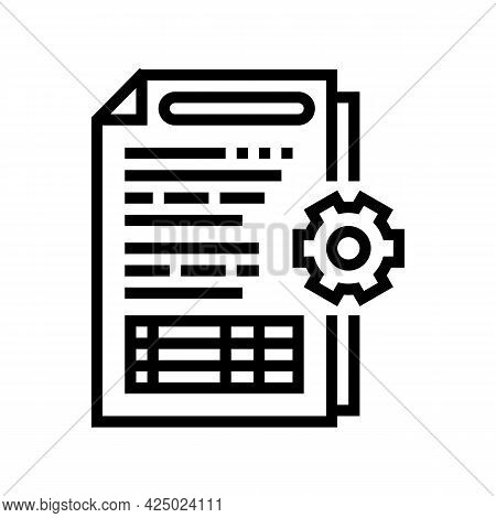 Audit Of Operational Processes And Internal Control Systems Line Icon Vector. Audit Of Operational P