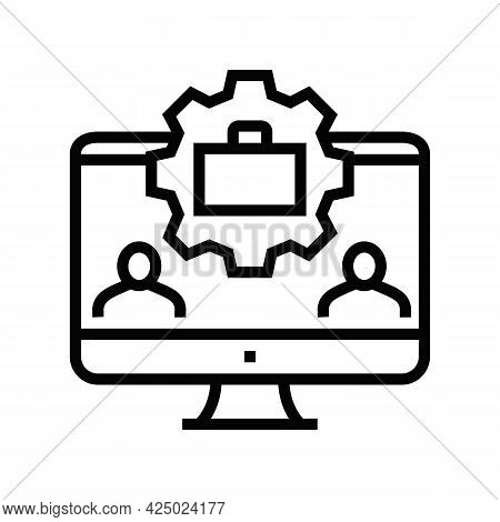 Networking Events Line Icon Vector. Networking Events Sign. Isolated Contour Symbol Black Illustrati