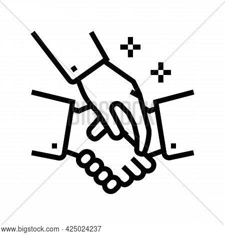 Assistance In Maintaining Business Etiquette Line Icon Vector. Assistance In Maintaining Business Et