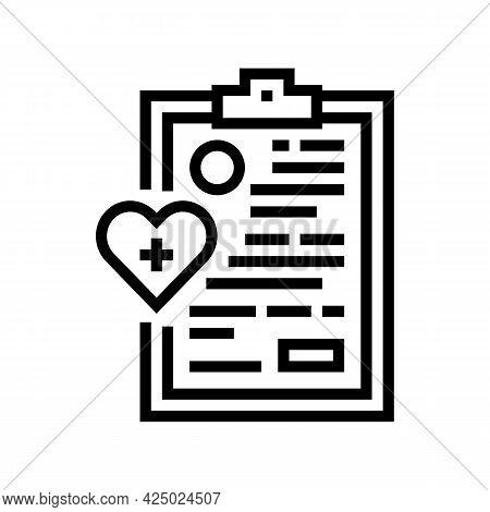 Elderly Human Medical Card Line Icon Vector. Elderly Human Medical Card Sign. Isolated Contour Symbo
