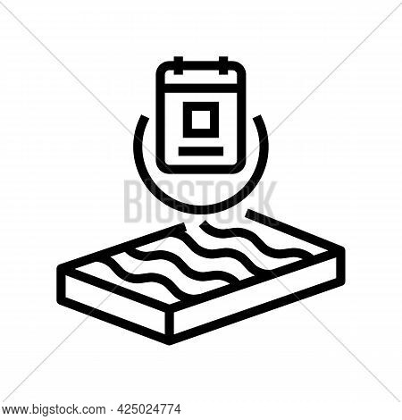 Durability Mineral Wool Line Icon Vector. Durability Mineral Wool Sign. Isolated Contour Symbol Blac