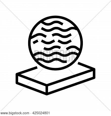 Glass Mineral Wool Line Icon Vector. Glass Mineral Wool Sign. Isolated Contour Symbol Black Illustra