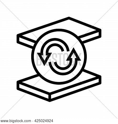 Replacement Mineral Wool Line Icon Vector. Replacement Mineral Wool Sign. Isolated Contour Symbol Bl