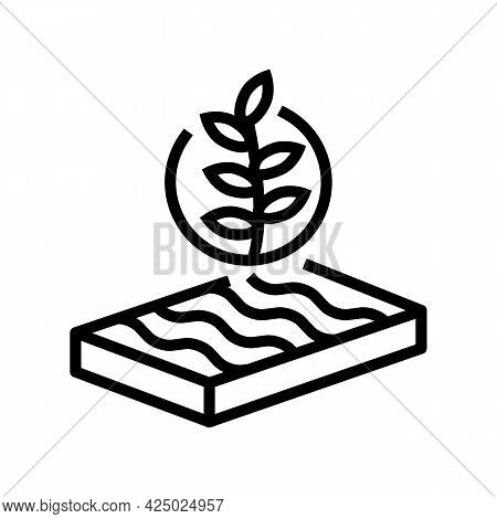 Environmental Friendly Mineral Wool Line Icon Vector. Environmental Friendly Mineral Wool Sign. Isol
