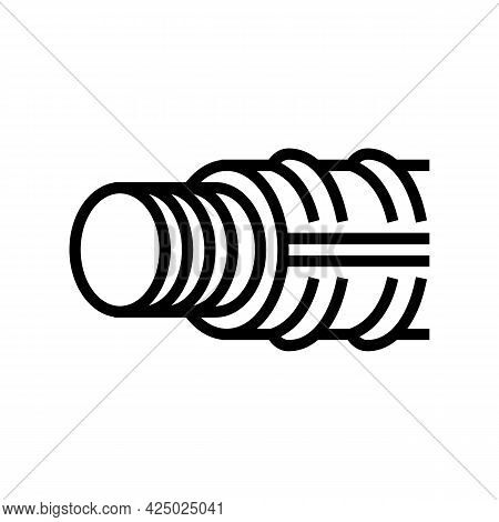 Threaded Fittings Line Icon Vector. Threaded Fittings Sign. Isolated Contour Symbol Black Illustrati
