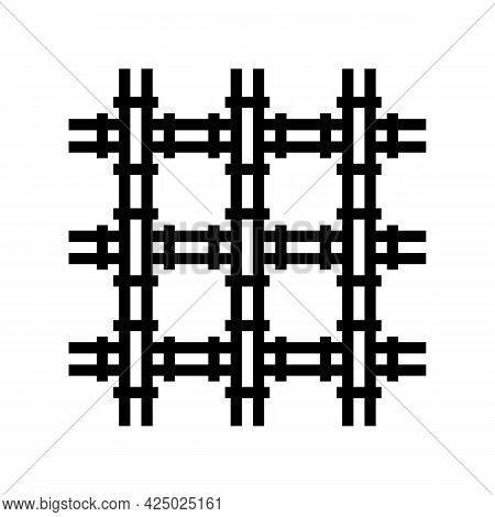 Welded Wire Mesh Wwf Line Icon Vector. Welded Wire Mesh Wwf Sign. Isolated Contour Symbol Black Illu