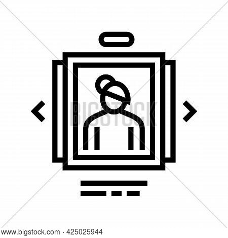Photo List Adoption Line Icon Vector. Photo List Adoption Sign. Isolated Contour Symbol Black Illust