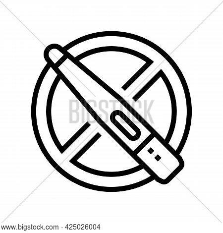 Infertility Problem Line Icon Vector. Infertility Problem Sign. Isolated Contour Symbol Black Illust