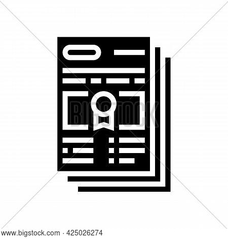 Mandatory Special Audit Glyph Icon Vector. Mandatory Special Audit Sign. Isolated Contour Symbol Bla