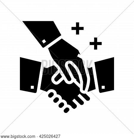 Assistance In Maintaining Business Etiquette Glyph Icon Vector. Assistance In Maintaining Business E