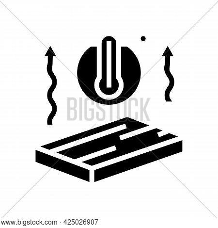 Thermal Insulation Mineral Wool Glyph Icon Vector. Thermal Insulation Mineral Wool Sign. Isolated Co