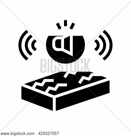 Noise Insulation Properties Glyph Icon Vector. Noise Insulation Properties Sign. Isolated Contour Sy