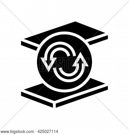 Replacement Mineral Wool Glyph Icon Vector. Replacement Mineral Wool Sign. Isolated Contour Symbol B