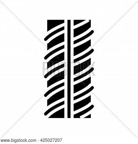 Metallic Rebar Glyph Icon Vector. Metallic Rebar Sign. Isolated Contour Symbol Black Illustration