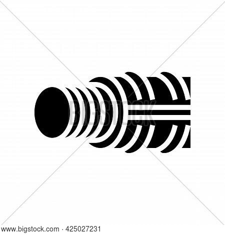 Threaded Fittings Glyph Icon Vector. Threaded Fittings Sign. Isolated Contour Symbol Black Illustrat