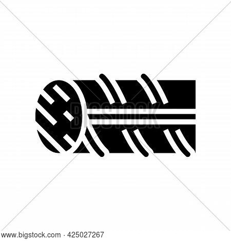Hardened Steel Fittings Glyph Icon Vector. Hardened Steel Fittings Sign. Isolated Contour Symbol Bla