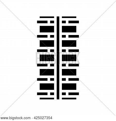 Deformed Rebar Glyph Icon Vector. Deformed Rebar Sign. Isolated Contour Symbol Black Illustration
