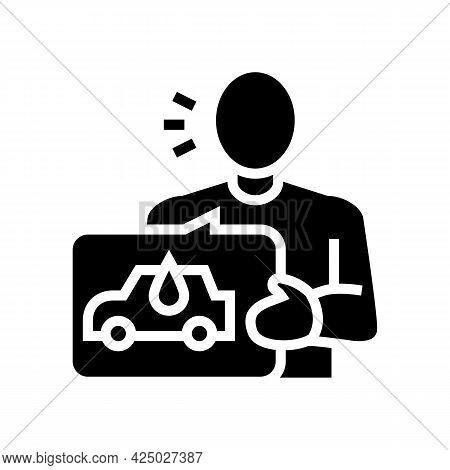 Client Self Car Wash Service Glyph Icon Vector. Client Self Car Wash Service Sign. Isolated Contour