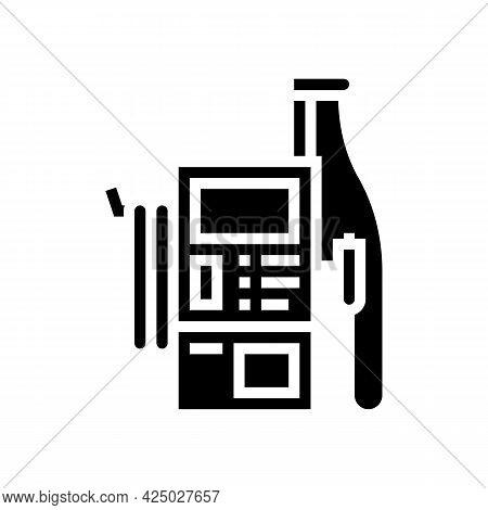 Station Car Wash Service Glyph Icon Vector. Station Car Wash Service Sign. Isolated Contour Symbol B