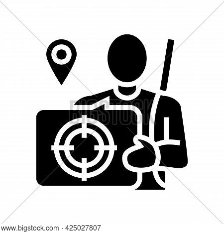 Hunting Tourism Glyph Icon Vector. Hunting Tourism Sign. Isolated Contour Symbol Black Illustration