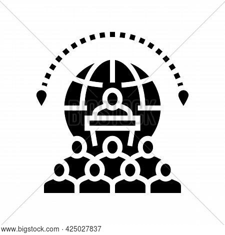 Congress Tourism Glyph Icon Vector. Congress Tourism Sign. Isolated Contour Symbol Black Illustratio