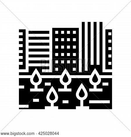 Urban Garden Glyph Icon Vector. Urban Garden Sign. Isolated Contour Symbol Black Illustration