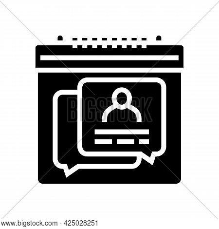Schedule Consultation Adoption Glyph Icon Vector. Schedule Consultation Adoption Sign. Isolated Cont