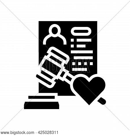 State Adoption Glyph Icon Vector. State Adoption Sign. Isolated Contour Symbol Black Illustration