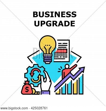 Business Upgrade Vector Icon Concept. Business Upgrade And Innovation, Idea For Restart And Renovati