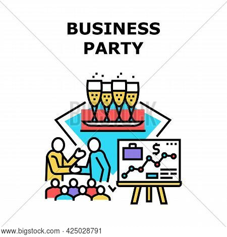 Business Party Vector Icon Concept. Business Party For Celebrate Company Anniversary Or Successful D