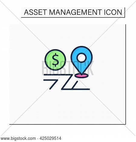 Assets Location Color Icon. Investments Distribution By Savings Vehicles.tax Accounts, Tax Deferred