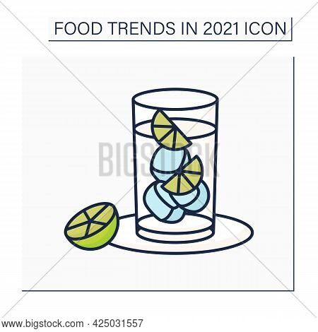 Hard Seltzer Color Icon. Carbonated Alcoholic Water. Cocktail. Refreshing Drink.food Trends Concept.