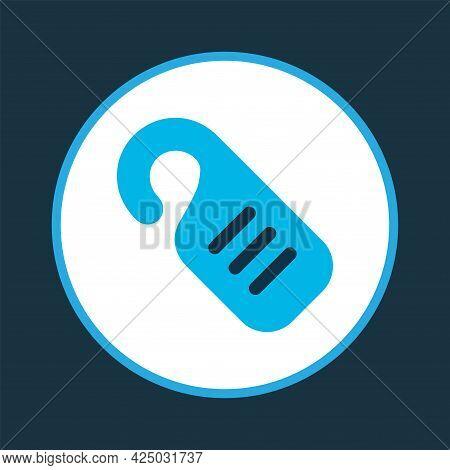 Do Not Disturb Icon Colored Symbol. Premium Quality Isolated Door Hanger Element In Trendy Style.