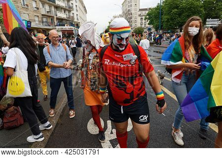 People Take Part In The Gay Pride - Also Known As The Lesbian, Gay, Bisexual And Transgender People-