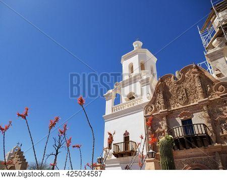 San Xavier Del Bac Mission In Tucson, Arizona
