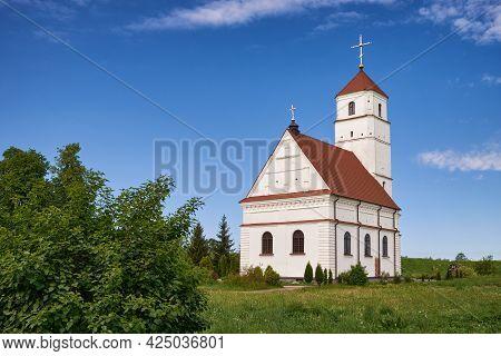 Antique Orthodox Transfiguration Church, Zaslavl, Minsk Region. Belarus.