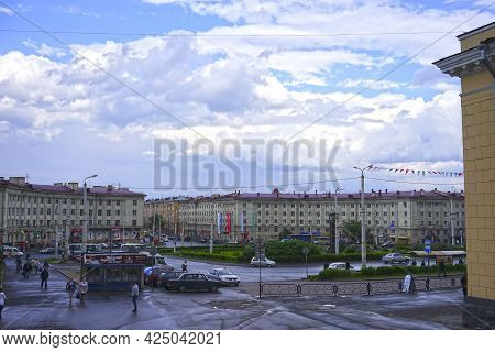Petropavlovsk-kamchatsky, Russia-june 3, 2015: City Landscape With A View Of The Square Near The Rai