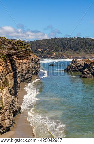 Scenic Coastal Landscape In Mendocino Headlands State Park, California