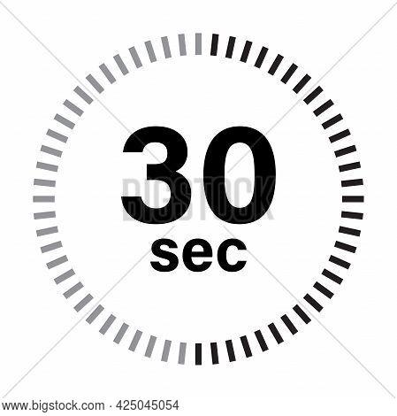 Timer 30 Sec Icon Vector For Graphic Design, Logo, Web Site, Social Media, Mobile App, Ui Illustrati