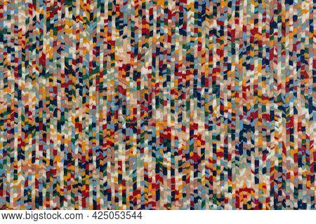 Pointillisme Veneer Background, Colorful Texture For Your Unique Design.