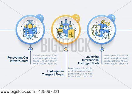 Promote Green Hydrogen Vector Infographic Template. Transport Fleets Presentation Outline Design Ele