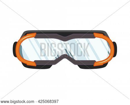 Snorkel mask for diving and swimming. Illustration of swimming masks or goggles for scuba diving. Realistic diver equipment for summer holidays