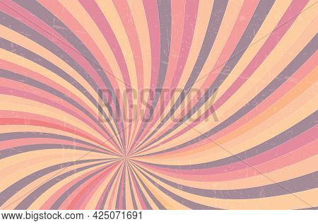 Abstract Grunge Background With Scratches And Stripes For Your Design - Vector Illustration