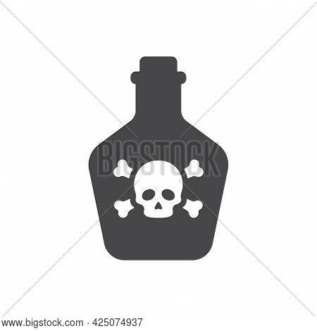 Bottle Poison Skull Icon Bones.eps