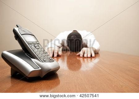 Man Admits Defeat Waiting For A Call