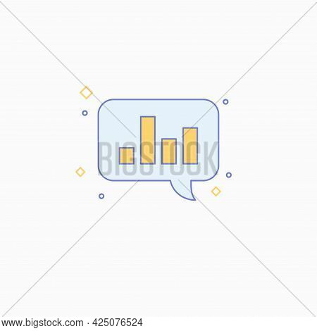 Business Data Analytics. Bright Modern Illustration Of Analytics And Statistics.