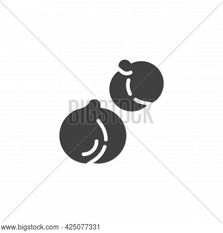 Chickpea Vector Icon. Filled Flat Sign For Mobile Concept And Web Design. Chick-pea Seed Glyph Icon.
