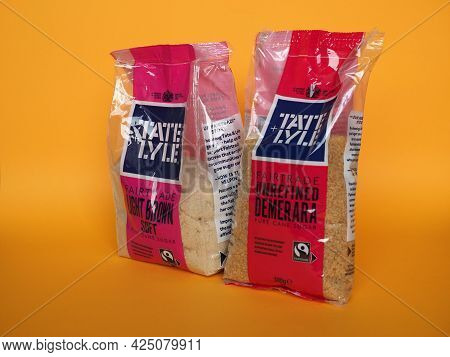 Liverpool - Circa June 2021: Tate And Lyle Packet Of Brown Sugar