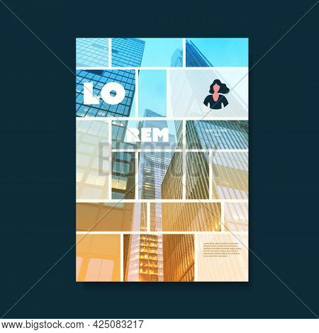 Modern Style Flyer Or Cover Design For Your Business With Skyscraper, Urban Theme - Applicable For B